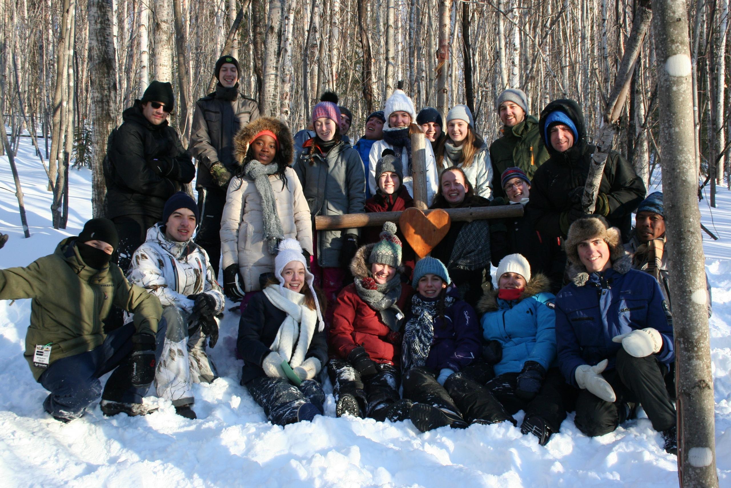 Groupe de jeunes lors de Verso l'Alto